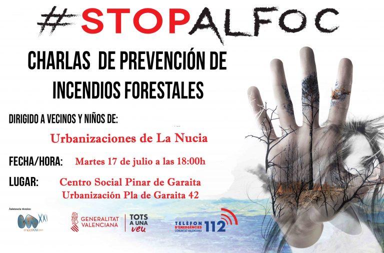 Charla sobre prevención de incendios en La Nucía