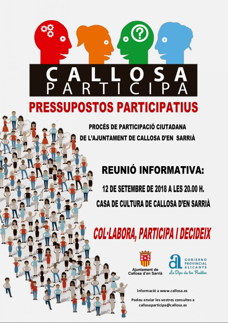 Callosa d'en Sarrià prepara sus presupuestos participativos