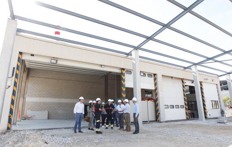 La ampliación del Parque del Consorcio Provincial de Bomberos en Benidorm acabará a principios de 2019