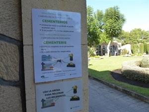 Campaña contra los mosquitos en el cementerio de La Nucía