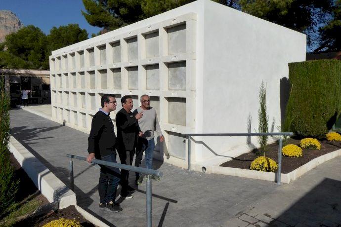 Finalizan las obras de mejora y ampliación del Cementerio Municipal de La Nucía