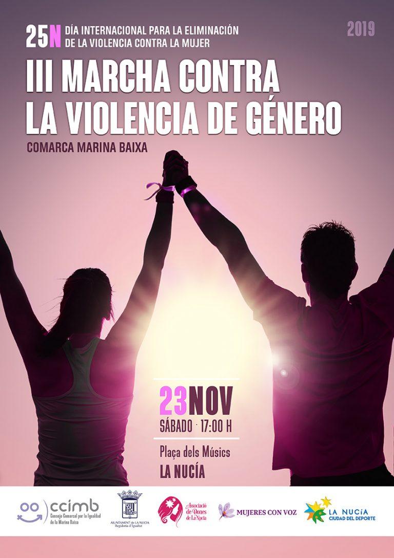 La Nucía acogerá la tercera Marcha Comarcal contra la Violencia de Género