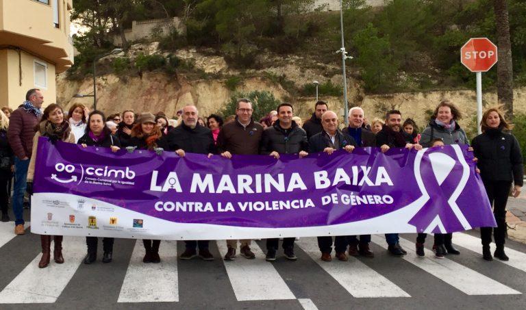 """La comarca dijo """"Basta Ya"""" a la Violencia de Género en La Nucía"""