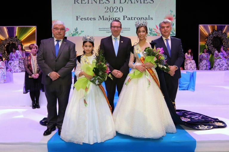 Paula Pérez Berenguer y Sofía Fuster Manchón,  Reinas de les Festes Majors Patronals 2020 de Benidorm