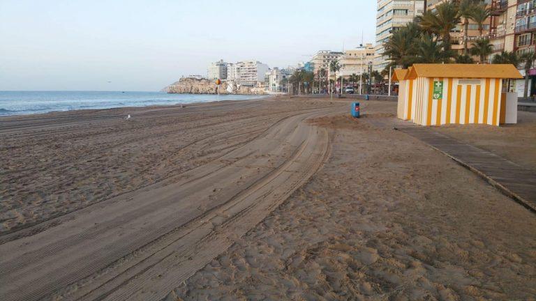 Las playas de Benidorm ya están operativas tras el paso del temporal 'Gloria'