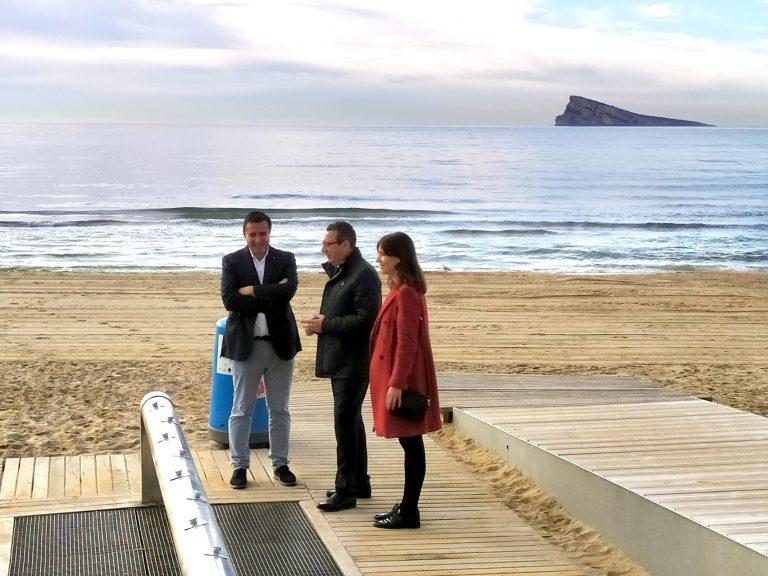 Benidorm y Turisme Comunitat Valenciana lanzan una campaña para mostrar las playas tras la borrasca