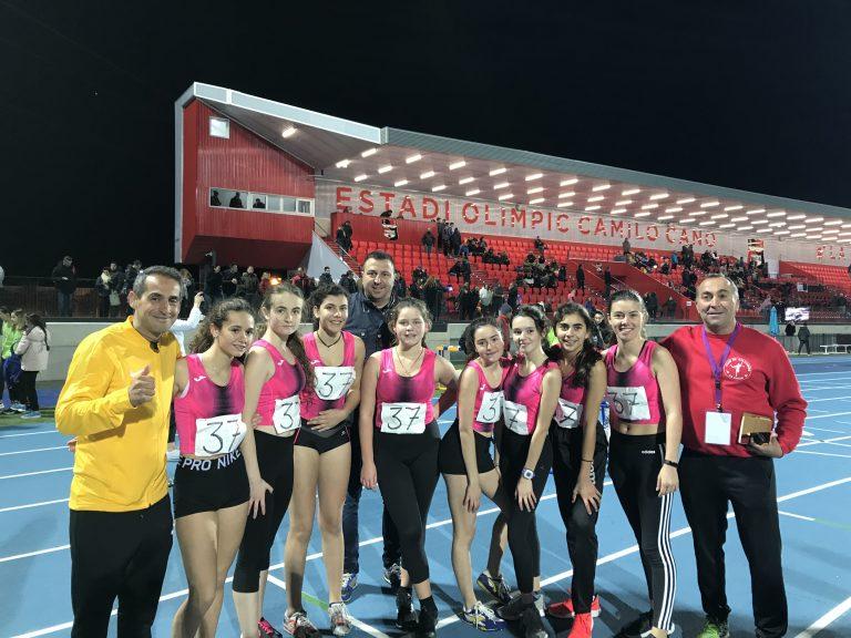 Las chicas del Club de Atletismo La Nucía quedan séptimas en el Provincial sub 16 de Clubes