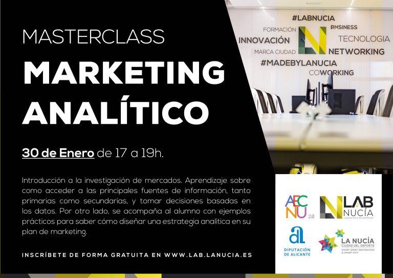 """El Lab_Nucia acoge una Másterclass de """"Marketing Analítico"""""""