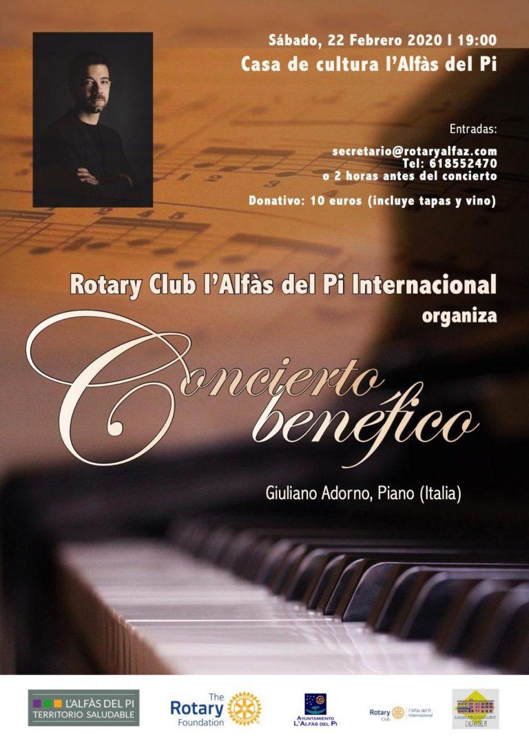 Concierto del pianista Giuliano Adorno en l'Alfàs del Pi