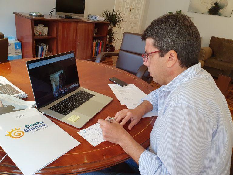 Carlos Mazón desde Diputación  aborda con hosteleros la reactivación económica.