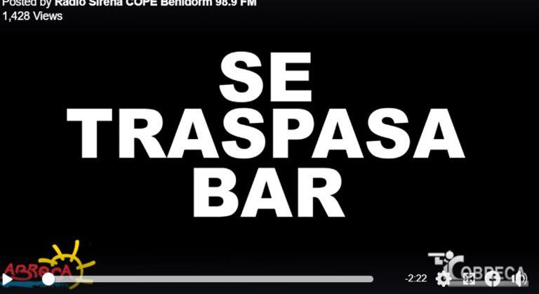 Los bares de Benidorm echan el cierre (campaña de protesta).