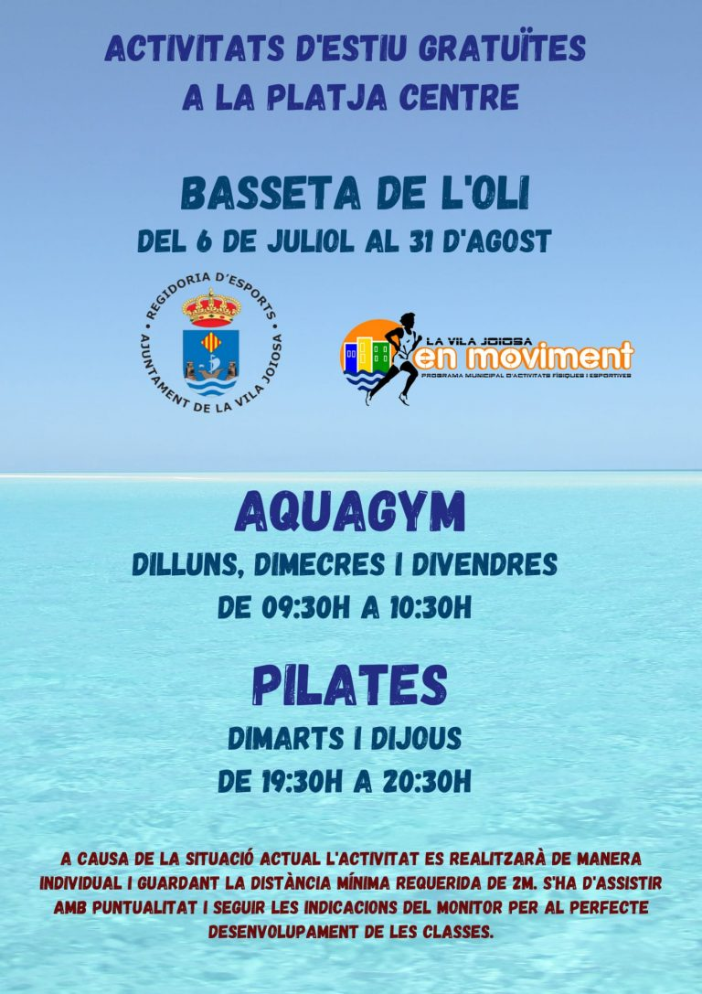 Deportes de La Vila Joiosa oferta actividades deportivas gratuitas