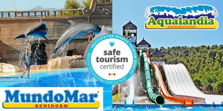 Aqualandia y Mundomar, certificadas como seguras y responsables frente al covid