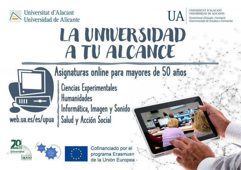 La Nucía; La Universidad de Alicante  ofrece cursos on-line para mayores de 50 años