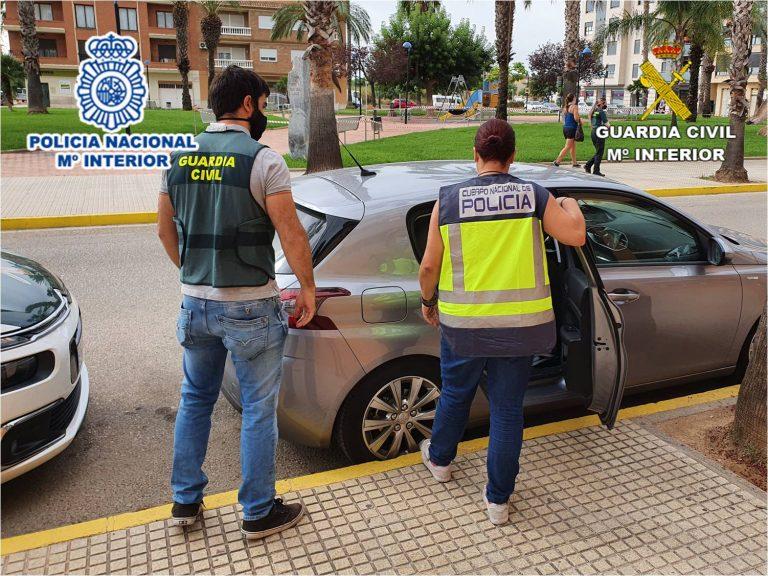 Guardia Civil y Policía Nacional desarticulan una Organización Criminal por robos en la autovía A7