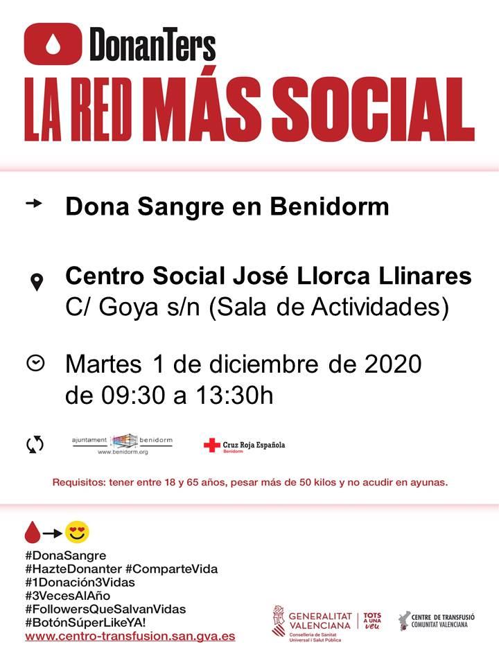 Próximas donaciones de sangre en la Marina Baixa