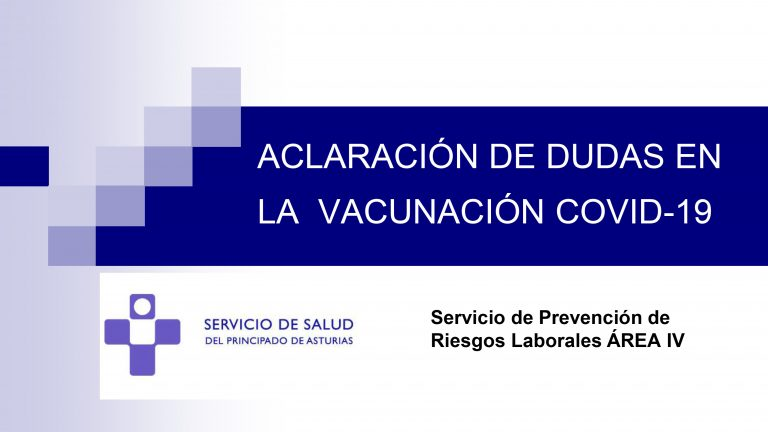 Aquí puedes aclarar todas tus dudas sobre la vacunación covid-19