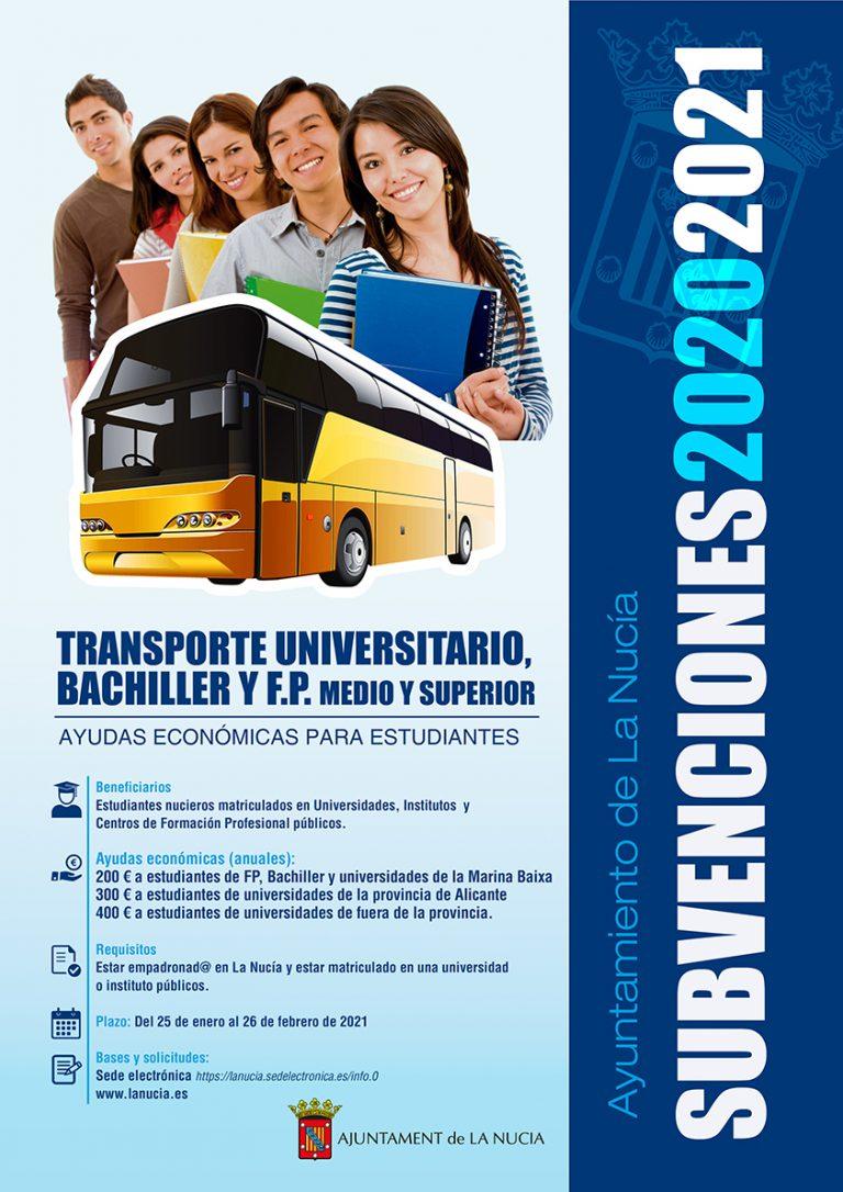 La Subvención de Transporte en La Nucía suma ya 110 solicitudes