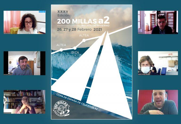 Cartel ganador de la regata 200 millas A2 del Club Náutico en Altea