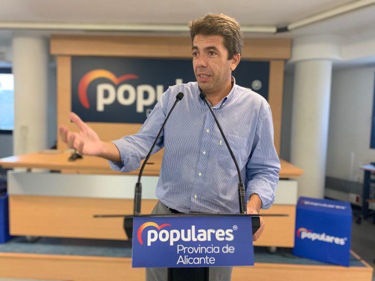 El PPCV presenta mociones en ayuntamientos y les Corts para rechazar los indultos
