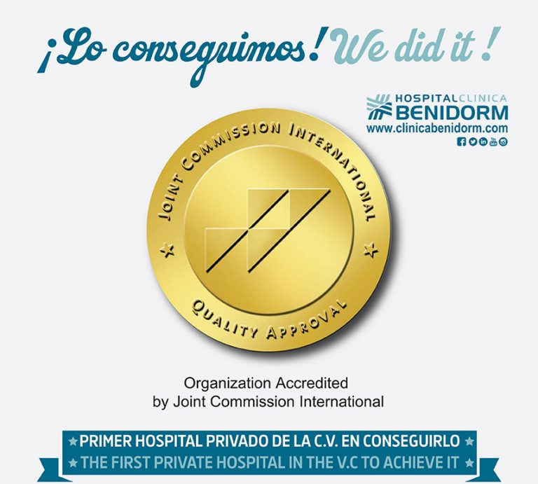 Hospital Clínica Benidorm consigue la acreditación «Joint Commission International»