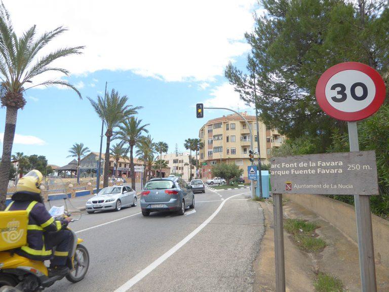 El Ayto de La Nucía informa de la nueva normativa de velocidad para vías urbanas de la DGT