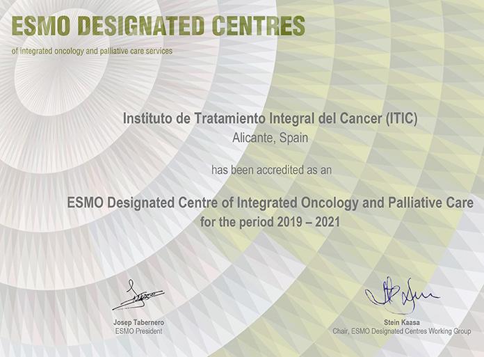 Acreditación para el Instituto para el Tratamiento Integral del Cáncer de Hospital Clínica Benidorm