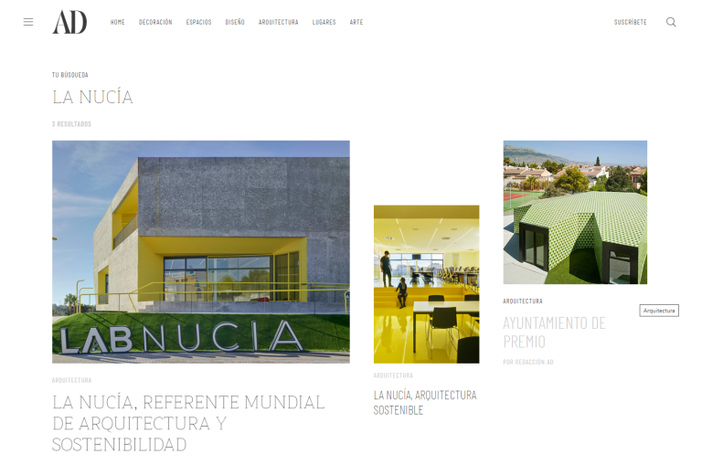 """La revista AD publica """"La Nucía, referente mundial de Arquitectura y Sostenibilidad"""""""