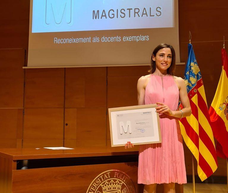 """La profesora Marga Rodrigo reconocida como """"docente magistral» por la Universidad"""