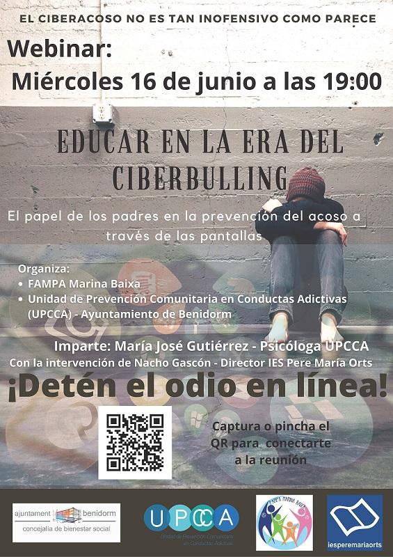 Bienestar Social y la Federación de AMPAS organizan un 'webinar' contra el 'ciberbulling'