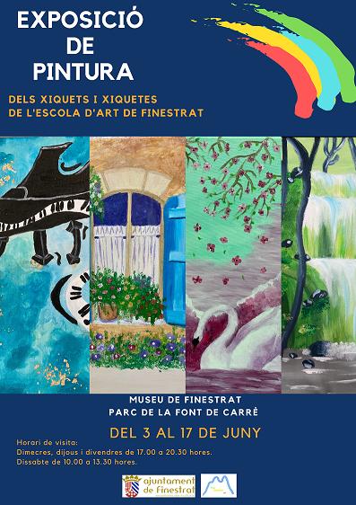 Exposición en Finestrat de trabajos realizados por el alumnado
