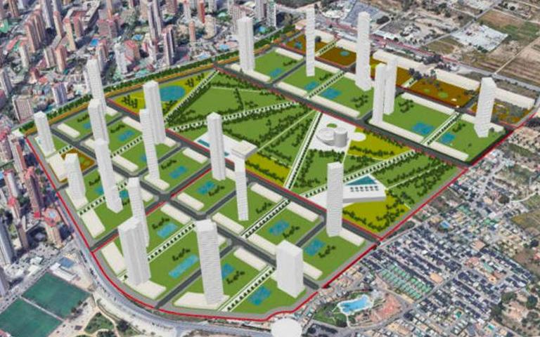 Se expone en Benidorm la nueva versión del Plan Parcial «Ensanche de Levante»